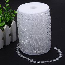 30m AB Iridescent Diamond Strand Acrylic Crystal Bead Chain White Clear Wedding Party Decorations Curtain Lighting Hanging Craft(China)