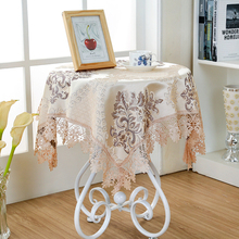 3color Dia.180cm Damask Fabric Tablecloth Refrigerator Towel Round Rectangle Tablecloths Multi-purpose Home Decor