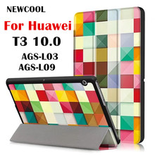 T3 9.6 Painted Leather case Flip Cover for Huawei Mediapad T3 10 10.1 10.0 AGS-L03 AGS-L09 Wifi AGS-W09 tablet case stand cover