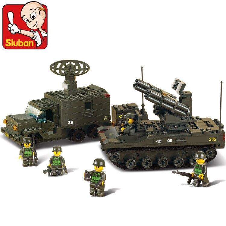 Sluban B6700 Radar signal car, long-range artillery 3D Construction Plastic Model Building Blocks Bricks Compatible With Lego<br>