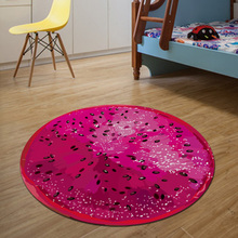 Red Pitaya Round Mat 80/100/120/160CM alfombras dormitorio Carpet Living Room Deurmat Dier rugs Swivel chair Mats tapis chambre