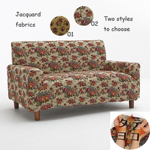 Sofa set jacquard fabric non-slip elastic flower blended waterproof cloth durable sofa set one two three seat sofa covers custom