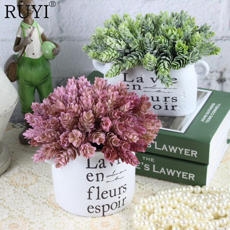 Simulation Green Plant Pineapple Grass Decoration Artificial Flower Plants for Home table Decorative(China)