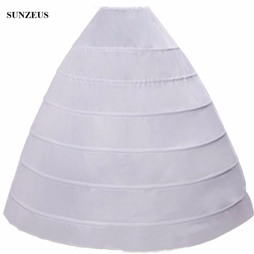 Big Princess Ball Gown 6 Hoops Petticoat for Wedding Dress Quinceanera Dress Accessories Luxurious Bridal Underskirt  S25