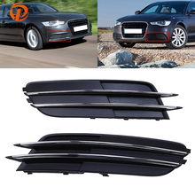 POSSBAY Front Lower Grille Fit Audi A6 C7 Sedan/Avant 2011-2015 Pre-facelift Right&Left Side Grille Vent 4G0 807 681 4G0 807 682(China)