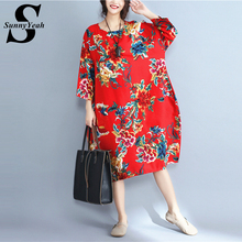 Buy SunnyYeah Cotton Linen Women Dress Summer 2017 Vintage Dresses Female Loose Plus Size Women Clothing Casual Vestidos Mujer robe for $14.87 in AliExpress store