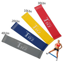 Fitness 4 Levels Pilates Yoga Rubber Resistance Bands LOOP rope Stretch Band Crossfit elastic resistance band free shipping WYQ