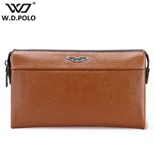 WDPOLO Mens Leather wallet standard long wallet classical polo money purse vintage style for business men holding M2271