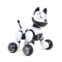 Voice Recognition Intelligent Robot Dog Electronic Toy Interactive Doggy Robot Puppy Music LED Eyes Flashing Action Toy(China)