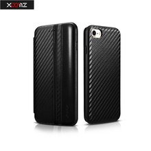 For iphone 7 / 7plus Case Wallet Leather Cases for iphone 7 Flip Cover for iphone 7 plus Carbon Fiber Cover