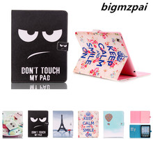 For Cover Apple iPad 2 iPad 3 iPad 4 case Smart PU Leather Tablet Case Stand Flip Cute Kids Cover Screen Protector Film(China)