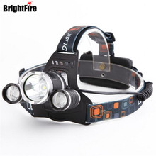 Professinal CREE Waterproof XML T6 and 2 XPE LED Headlamp 4 Modes 5000LM Head Lamp Head Light(China)
