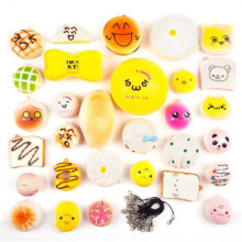 10pcs/Lot Kawaii Home Decor Squishy Cute Soft Panda/Bread/Donut Phone Keychain Strap ice Cream Toast Cake Kid Present