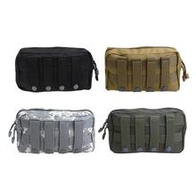 Outdoor MOLLE Bag 1000D Waterproof Tactical Waist Bag Pack Camping Hiking Utility Pouch EDC Keys Phone Holder Backpack Attached