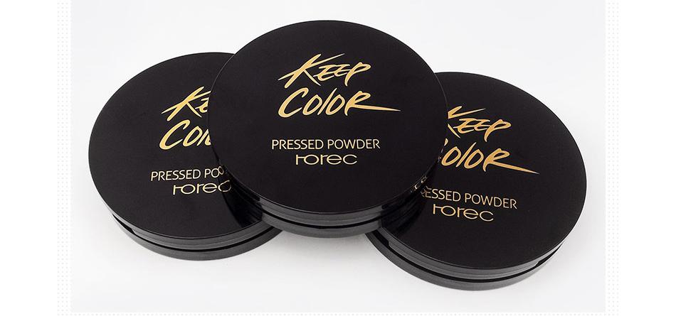 ROREC Mineral Pressed Face Powder Concealer Base Makeup Performance Wear Powder Foundation Compact Powder Makeup Illuminator 17