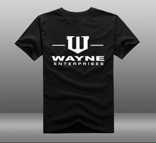 Batman Bruce Wayne Superhero Wayne Enterprises Logo Cotton Short Sleeve O-neck T-shirts Tee Shirts Tops(China)