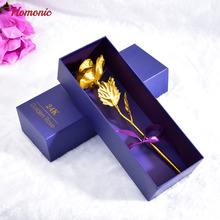 24k gold plated rose flower valentines day gift gold dipped roses Handcrafted Forever rose wedding decoration with gift box P30(China)
