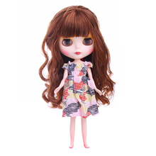 Fashion Doll Accessories 1/6 Sweet Striped One-pieces Dress Outfit for 12'' Blythe Doll Clothing Dress Up Accessory Girl Gift