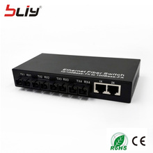 4 fiber port vlan DIP switch 10/100Mbps dual fiber to 2 rj45 fiber optical to ethernet networking DIP switch media converter(China)