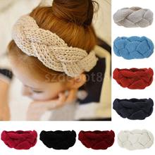 Womens Girls Wool Knitted Headband Hair Band Hat Earmuffs Winter Warm Ear Warmer Headwear