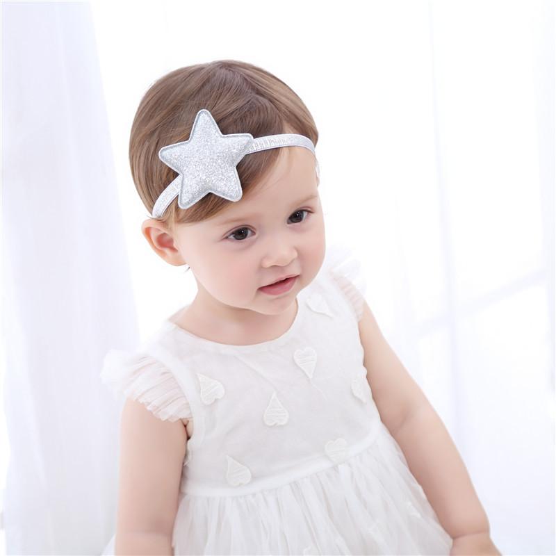 Großhandel 1 Stück Sterne Muster Mädchen Stirnband Gold Silber ...