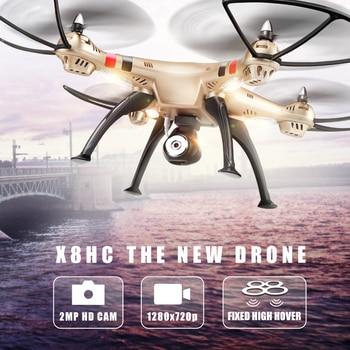 Syma drone x8hc (X8C Actualización) con Cámara de 2MP HD 2.4G Fijo Alta Quadcopter RTF 4CH 6 Axis RC Helicóptero Quadrocopter