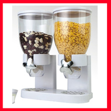 Indispensable Dual Cereal Candy Snack Canister Dry Food Dispenser(China)