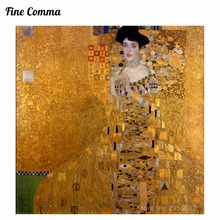 Gustav Klimt Golden Lady The Lady woman in Gold Canvas Painting Wall Art Pictures Hand Painted Oil Paintings Reproduction Repro(China)