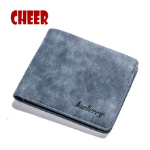 Men's Wallets men Pocket Casual Purse Money Clip Clutch Portfolio Men Matte skin Multi-card bit Luxury wallets High Quality bag(China)