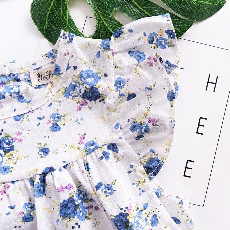 Mother nest 2018 Summer New Girls Flower Puff Sleeves Dress Cotton Children Kids Clothes Toddler Baby Birthday Kids Dresses (10)