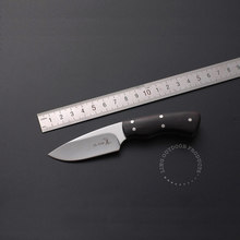 new Ebony multi-functional outdoor knife Browning mini camping small fixed blade knife Pocket EDC tool