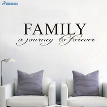 Family Wall Decal Family A Journey to Forever Family Room Wall Decor Living Room Wall Decor Family Vinyl Lettering  W-24