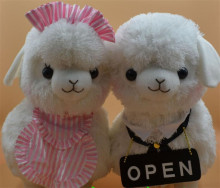 45CM Adora Doll Coffe Shop Waiter Japan Alpaca Plush Doll Boneca Peluches Alpacasso Yellow White Pink Color Sheep Stuffed Toy