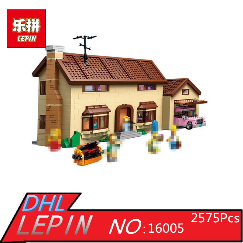 Lepin 16004  The Simpsons Bart Homer the Kwik-E-Mart Model Building Block Bricks Compatible 71016<br>