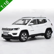 New 1:18 Diecast Model For JEEP COMPASS 2017 White SUV Alloy Toy Car Collection Gifts Free Shipping(China)