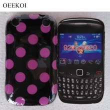 OEEKOI Popular Polka Dots Candy Soft TPU Skin Pouch Cover Case for Blackberry Curve 9220 9320 Phone Bags Free(China)