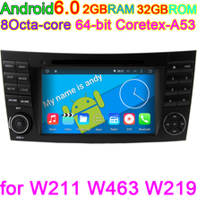 Vehicle Computer Car DVD Player For Mercedes/Benz/E-Class/W211/E300/CLK/W209/CLS/W219/G-Class/W463 Canbus Radio GPS DAB Two Din