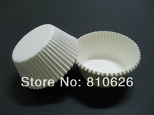 Promotion 100Pcs White Plain Solid cupcake liner paper baking cup muffin cup cake wrapper mold for wedding cake party supply