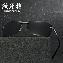 Wholesale Fashion concise Men Polarized sunglasses Alloy frames glasses UV400 high definition Blocking glare lens Eyeglasses
