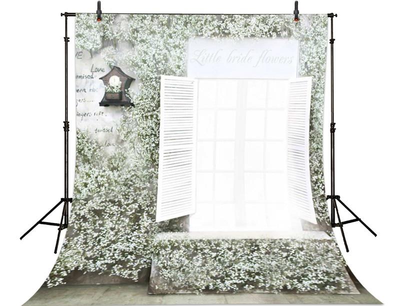 Window White Flower photo backdrop High-grade Vinyl cloth Computer printed wedding Backgrounds<br><br>Aliexpress