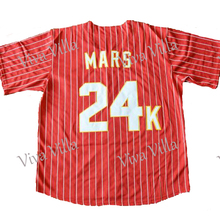 Bruno Mars 24K Hooligans Baseball Jersey Stitched Throwback Baseball Jerseys Free Shipping(China)