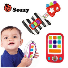 Sozzy New educational toy guitar and piano child musical instrument guitar and piano style beginner learning toy for kids baby(China)