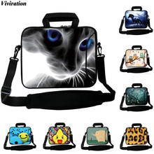 "For iPad Pro 10.5"" Tablet PC Notebook Laptop Computer Cover Case 10 12 13 15 14 17 Viviration Women Girls Shoulder Computer Bag(China)"