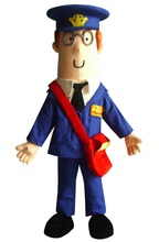 new character postman pat mascot costumes post man costume with red bags with free shipping(China)