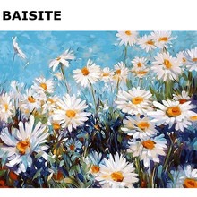 BAISITE DIY Frameless Oil Painting Pictures By Numbers Hand Painted Canvas Wall Picture For Living Room Home Decor Wall Art H537