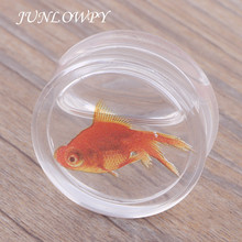 JUNLOWPY Transparent Acrylic Fish Logo Clear Ear Plugs And Tunnels Piercing Gauges Sell By Pair 8-18mm Body Jewelry