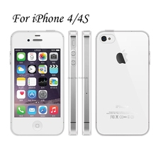 Clear Transparent TPU Gel Rubber Soft Silicone Case For iPhone 4S Cover Ultra Thin Protective Skin Cover Coque Funda