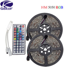 DC12V 5M 10M RGB LED strip 5050 RGB Flexible LED Light Waterproof LED tape ribbon Adhesive Tape IP20/IP65 with remote controller(China)