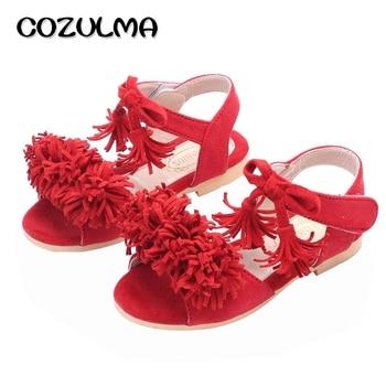 ... COZULMA Girls Sandals Kids Summer Shoes Girls Princess Shoes Kids Flat  Tassel Sandals Summer Style Children Sandals Black Red USD 15.94   pair ... c51f5b42e2f2