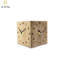 *Creative 3D Wooden Clock Movement Mute Sweep the stopwatch Wall Clock Decorative 3D Wall Clock For Multiple Walls Corridor(China)